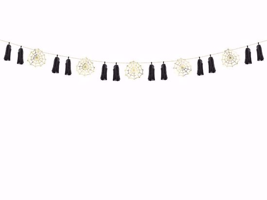 Picture of Paper Garland Spiderwebs Fiesta de Los Muertos Halloween Decorations Kids Party