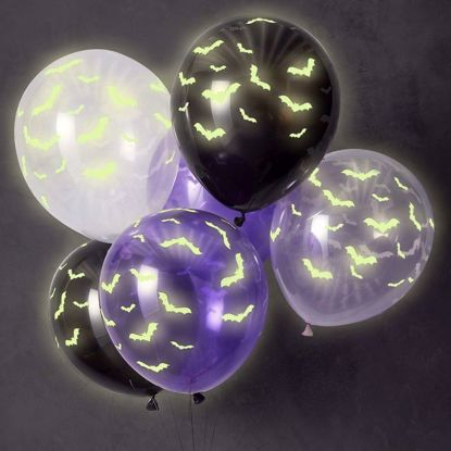 Picture of Glow In The Dark Halloween Balloons