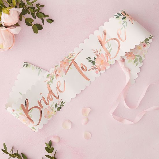 Picture of BRIDE TO BE HEN SASH - FLORAL HEN PARTY
