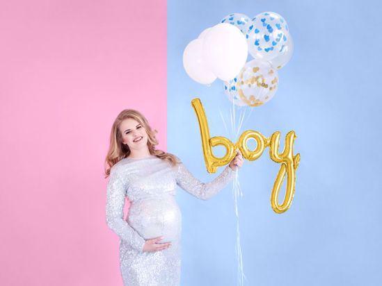 Picture of Boy Gold Script Balloon Bouquet