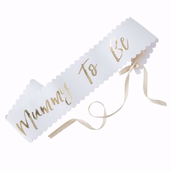 Picture of Mum To Be Sash Baby Shower Party Decorations