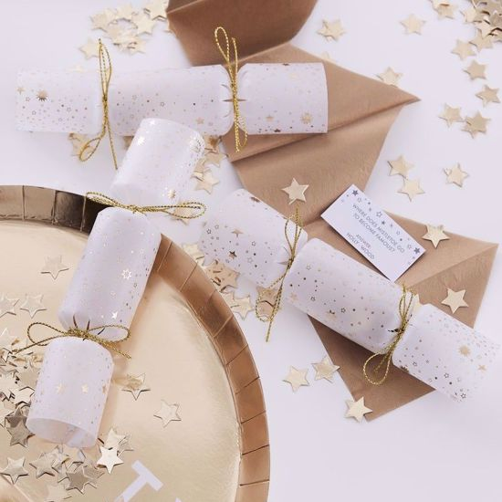 Picture of Christmas Crackers Gold Star Confetti