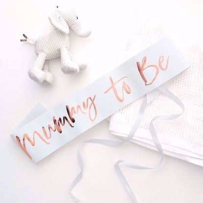 Picture of Mummy To Be Sash Baby Shower Rose Gold Decor