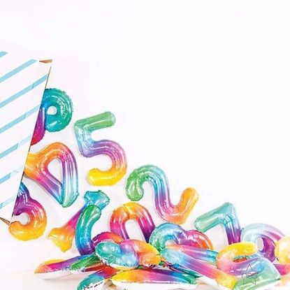 Picture of Ombre Number Balloons 16""