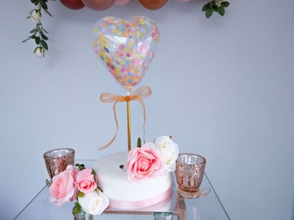 Picture of Balloon Cake Topper Heart Unicorn Theme Confetti Birthday
