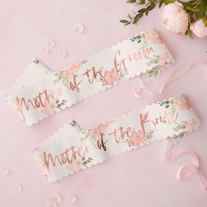 Picture of MOTHER OF THE BRIDE & GROOM SASHES - FLORAL HEN PARTY