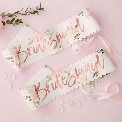 Picture of FLORAL BRIDESMAID SASH - FLORAL HEN PARTY