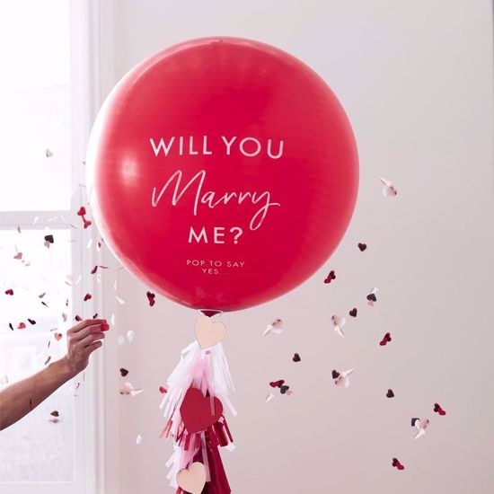 """Picture of 'Will You Marry Me' 36"""" Balloon Kit"""