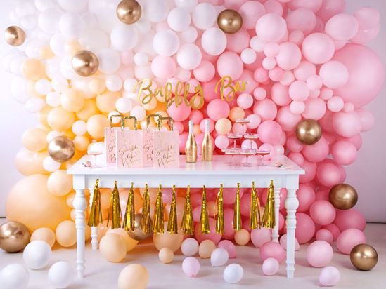 Picture of BLUSH PINK BALLOON WALL DECORATION  BACKDROP