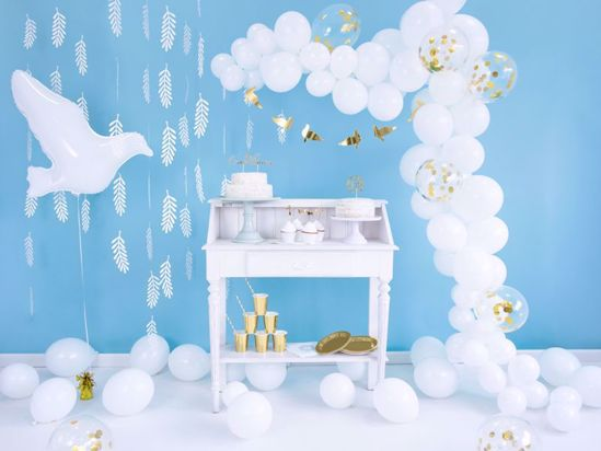 Picture of White Gold Balloon Garland Arch - 90 Balloons