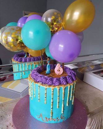 Picture of Aladdin Theme Balloon Cake Topper Kids Party