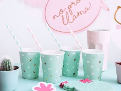 Picture of Paper cups Cactus  Llama Party