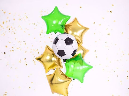 Picture of Football Balloons Bundle Bouquet Stars