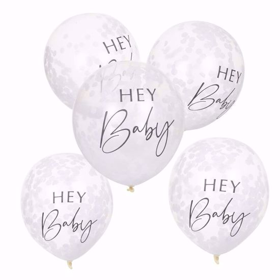 Picture of HEY BABY SHOWER CONFETTI BALLOONS