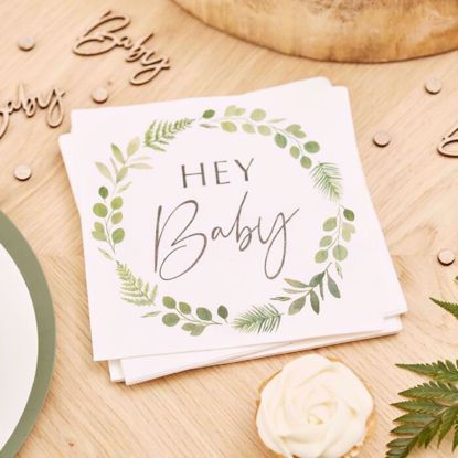 Picture of HEY BABY SHOWER NAPKINS