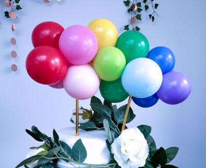 Picture of RAINBOW BALLOON CAKE TOPPER MINI GARLAND