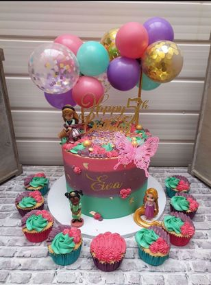 Picture of BALLOON CAKE TOPPER MINI GARLAND ALADDIN