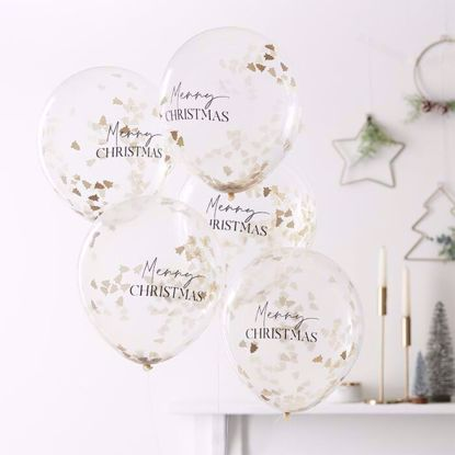 Picture of MERRY CHRISTMAS CONFETTI BALLOONS