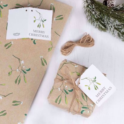 Picture of CHRISTMAS WRAPPING PAPER WITH TWINE AND TAG