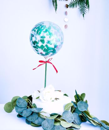 Picture of Christmas Balloon Cake Topper Holly Berries