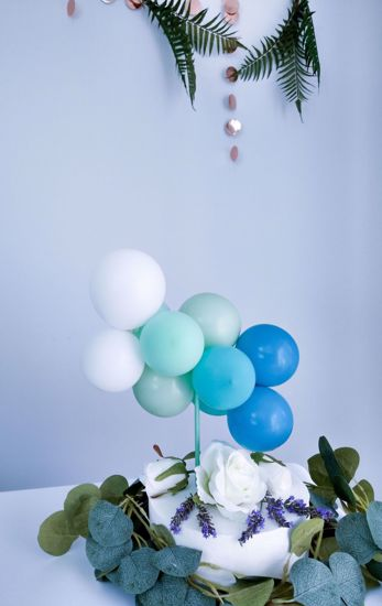 Picture of BALLOON CAKE TOPPER  MINT OMBRE BUNCH BIRTHDAY