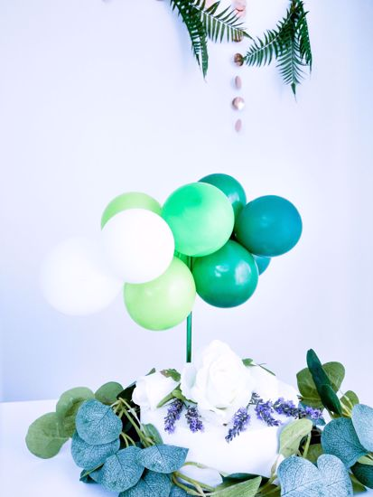 Picture of BALLOON CAKE TOPPER  GREEN OMBRE GARLAND