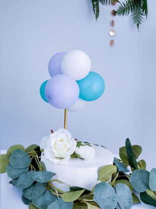 Picture of BALLOON CAKE TOPPER BUNCH LILAC