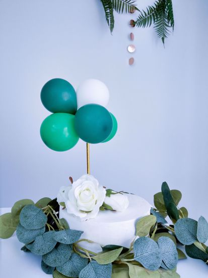Picture of BALLOON CAKE TOPPER BUNCH GREEN