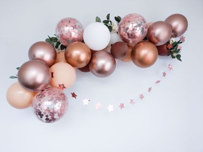 Picture of Rose Gold Balloon Garland Blush Arch Confetti