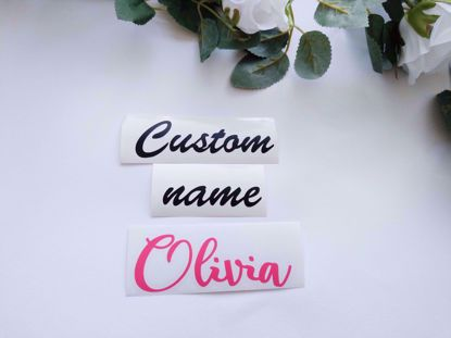 "Picture of Vinyl Custom Name for mini 5"" balloons"
