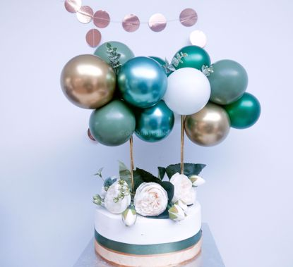 Picture of Cake Topper Balloon Garland Eucalyptus Spray Green