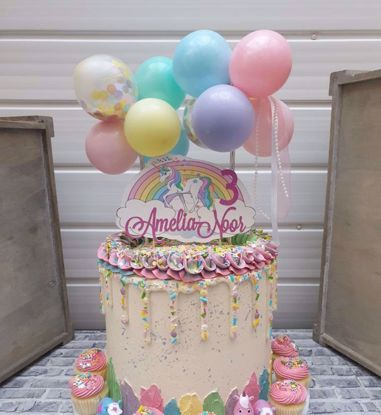 Picture of Balloon Cake Topper Mini Garland Princess Pastels