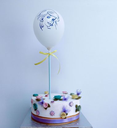 Picture of PRINCESS WHITE BALLOON CAKE TOPPER